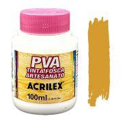 Tinta PVA fosca 100ml Acrilex - 564 Amarelo ocre