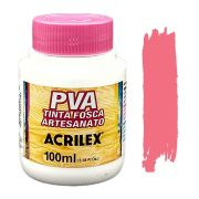 Tinta PVA fosca 100ml Acrilex - 567 Rosa chá