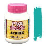 Tinta PVA fosca 100ml Acrilex - 577 Turquesa