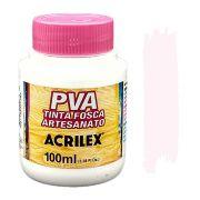 Tinta PVA fosca 100ml Acrilex - 813 Rosa bebe