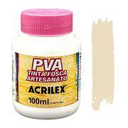 Tinta PVA fosca 100ml Acrilex - 817 Areia