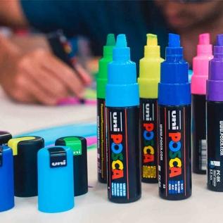 Caneta Marcador Posca PC-3M Azul