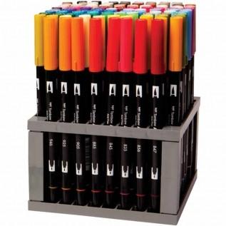Kit Canetas-pincéis Cores Galáticas Dual Brush c/10 peças Mod.56188 - Tombow