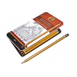 Estojo Metálico com 12 Lápis Graduado Mod.1502 - Kin Art
