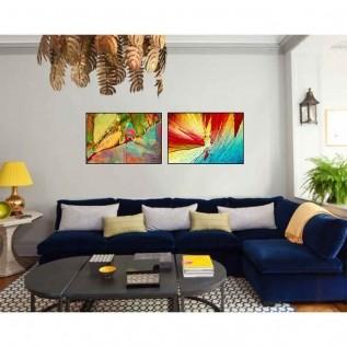 Quadro decorativo Abstrato em canvas - AGAB042