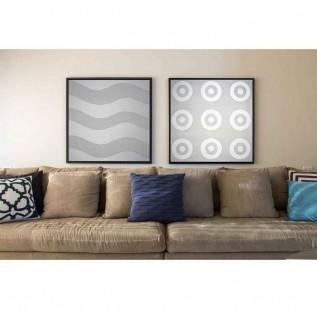 Quadro decorativo Abstrato em canvas - AGAB046