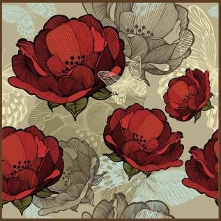 Quadro decorativo Flores em canvas - AGFL107
