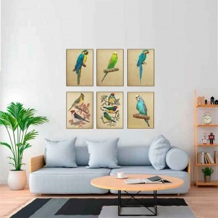 Quadro decorativo pássaro em canvas - AGPS003