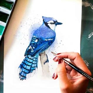 Tinta Aquarela Em Bisnaga Azul Púrpura Quinacridona 593 Van Gogh - Royal Talens 10ml