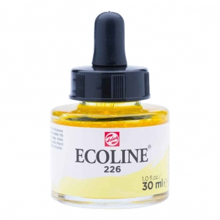 Tinta Aquarela Líquida Amarelo Pastel 226 - Ecoline Talens 30ml