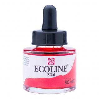 Tinta Aquarela Líquida Escarlate 334 - Ecoline Talens 30ml