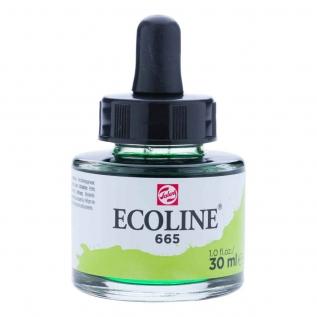 Tinta Aquarela Líquida Verde Primavera 665 - Ecoline Talens 30ml