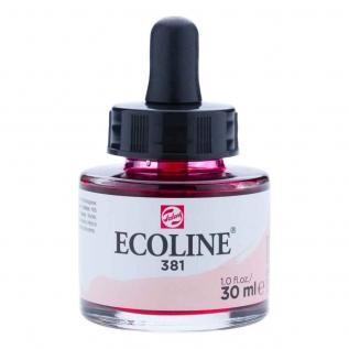 Tinta Aquarela Líquida Vermelho Pastel 381 - Ecoline Talens 30ml