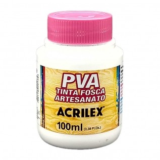 Tinta PVA fosca 100ml Acrilex - 519 Branco