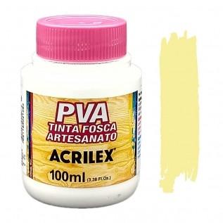 Tinta PVA fosca 100ml Acrilex - 808 Amarelo bebe