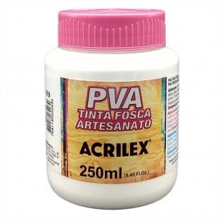 Tinta PVA fosca 250ml Acrilex - 519 Branco