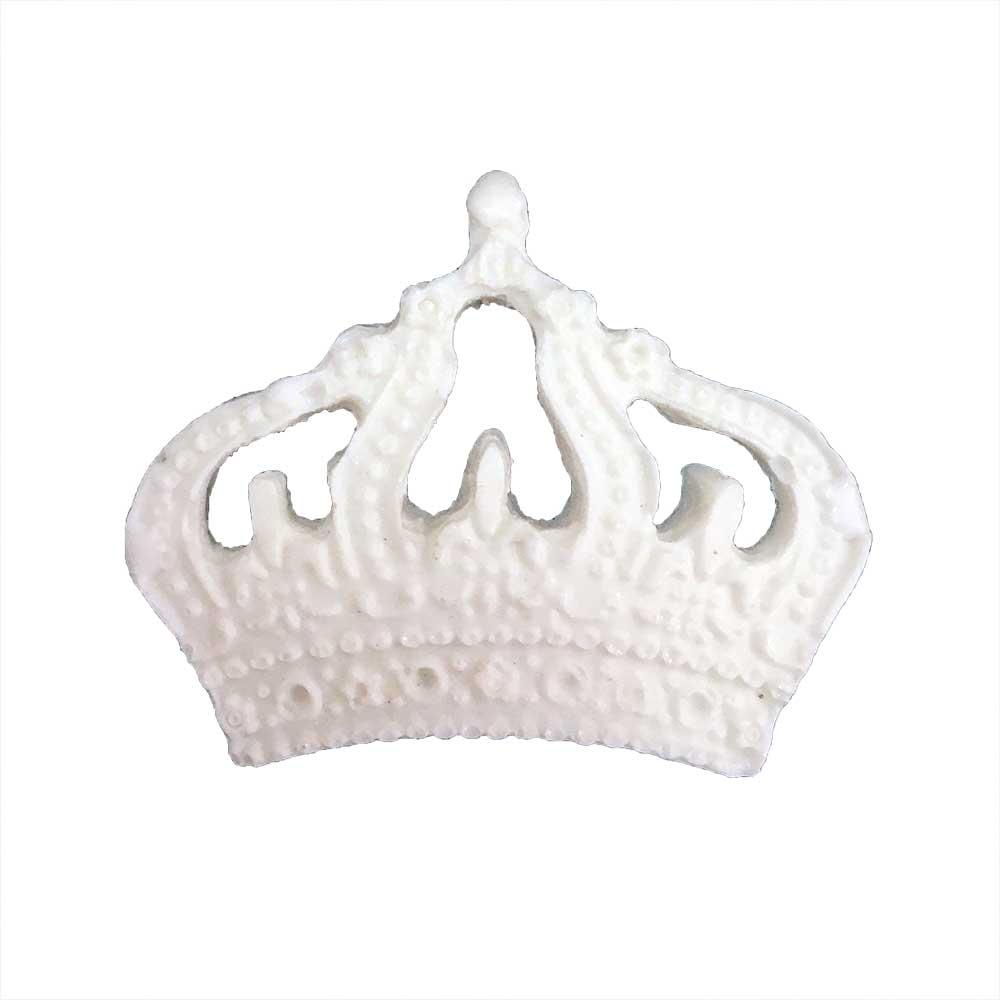 Aplique Coroa em Resina - IV465