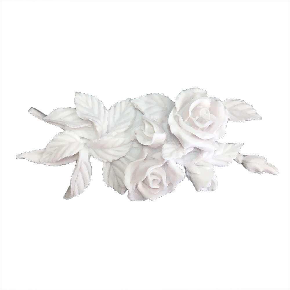 Aplique Rosas em Resina - IV186