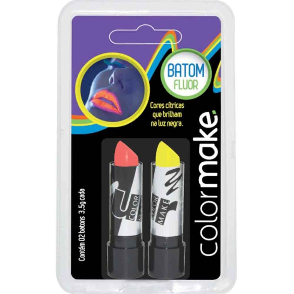 Batom Color Make Fluor Amarelo e Vermelho ref. 3219 - Colormake