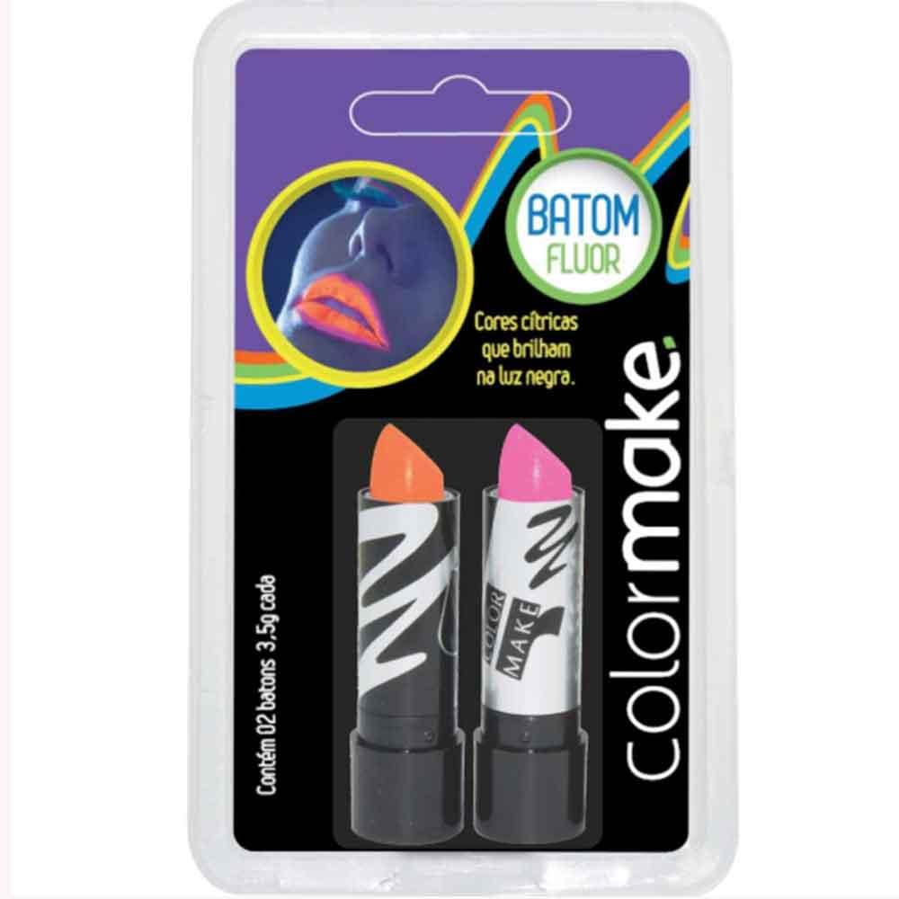 Batom Color Make Fluor Laranja e Pink ref. 3218 - Colormake
