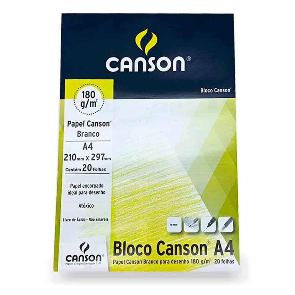Bloco para desenho 180g c/ 20 folhas A4 - Canson
