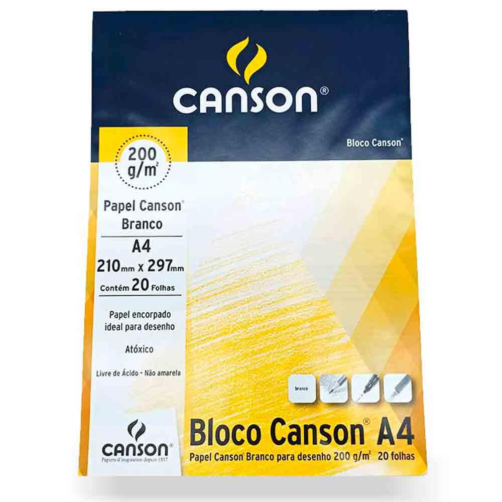 Bloco para desenho 200g c/ 20 folhas A4 - Canson