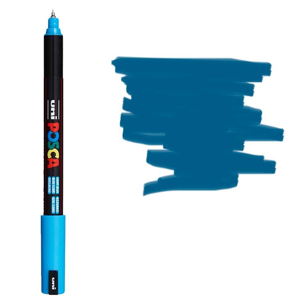 Caneta Marcador Posca PC-1MR Azul Metálica