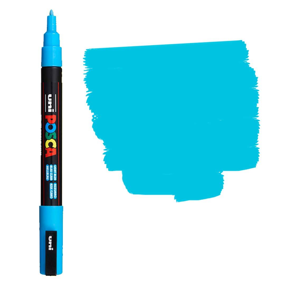 Caneta Marcador Posca PC-3M Azul Clara