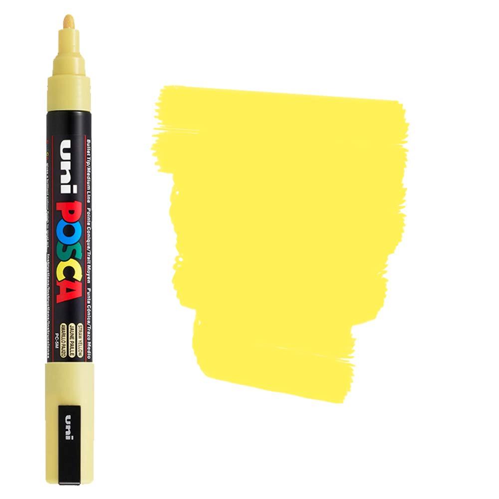 Caneta Marcador Posca PC-5M Amarelo Fluorescente