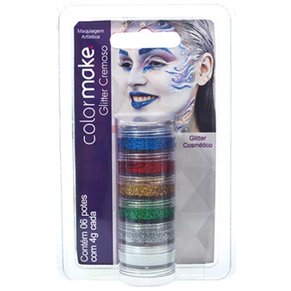Cartela Glitter com 06 unidades ref. 2000 - Colormake