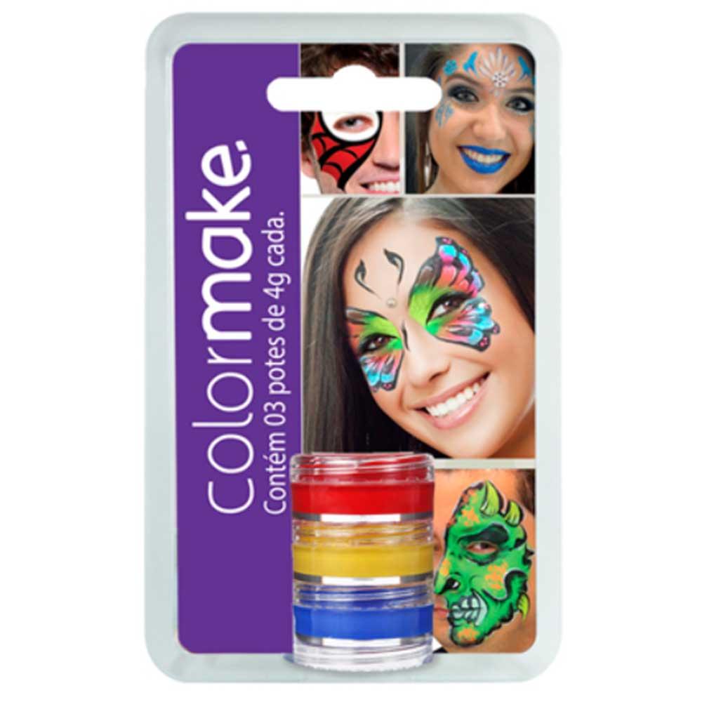 Cartela Tinta Cremosa com 03 cores ref. 0001 - Colormake