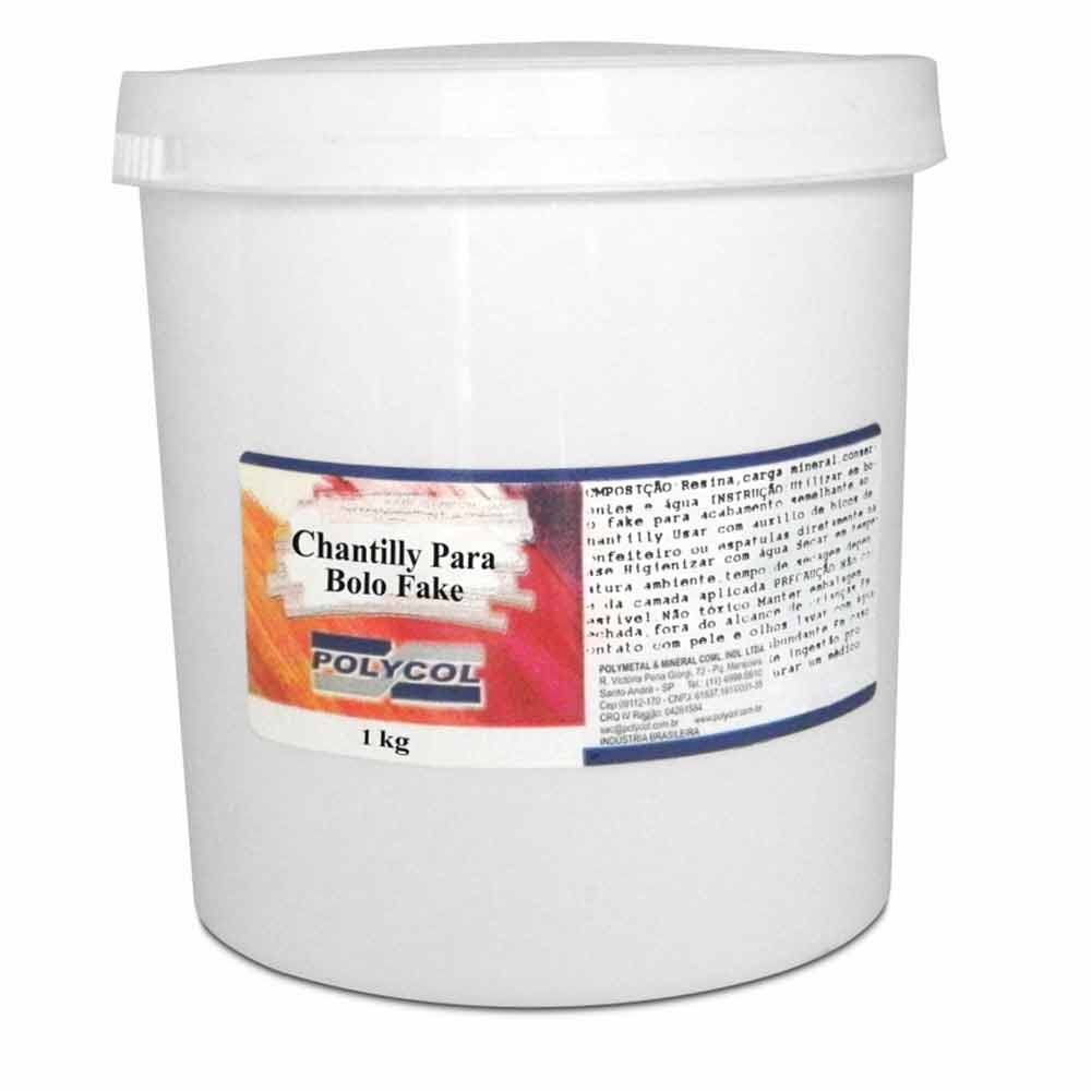 Chantilly Fake para Bolo Fake 1kg - Polycol
