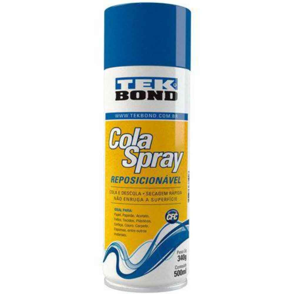 Cola Spray Reposicionável 340g/500ml - Tekbond