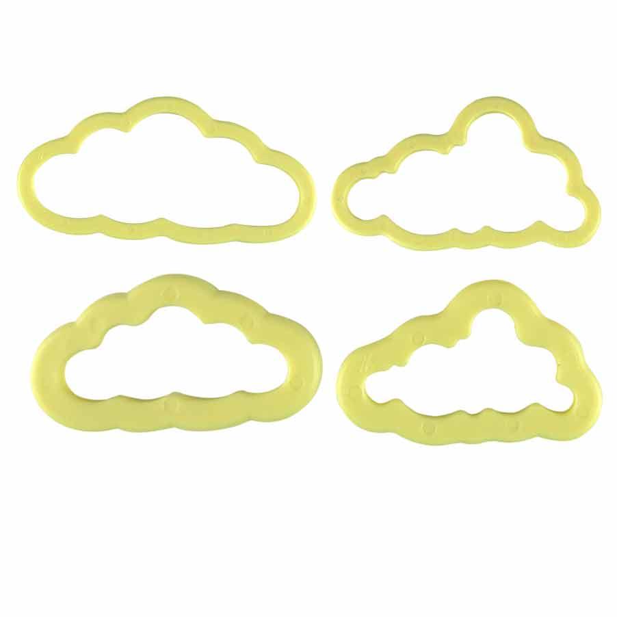 Cortador de Nuvem para biscuit  c/4 peças Bluestar