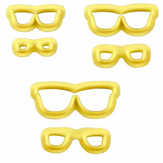 Cortador de Óculos para biscuit c/3 conjuntos Bluestar