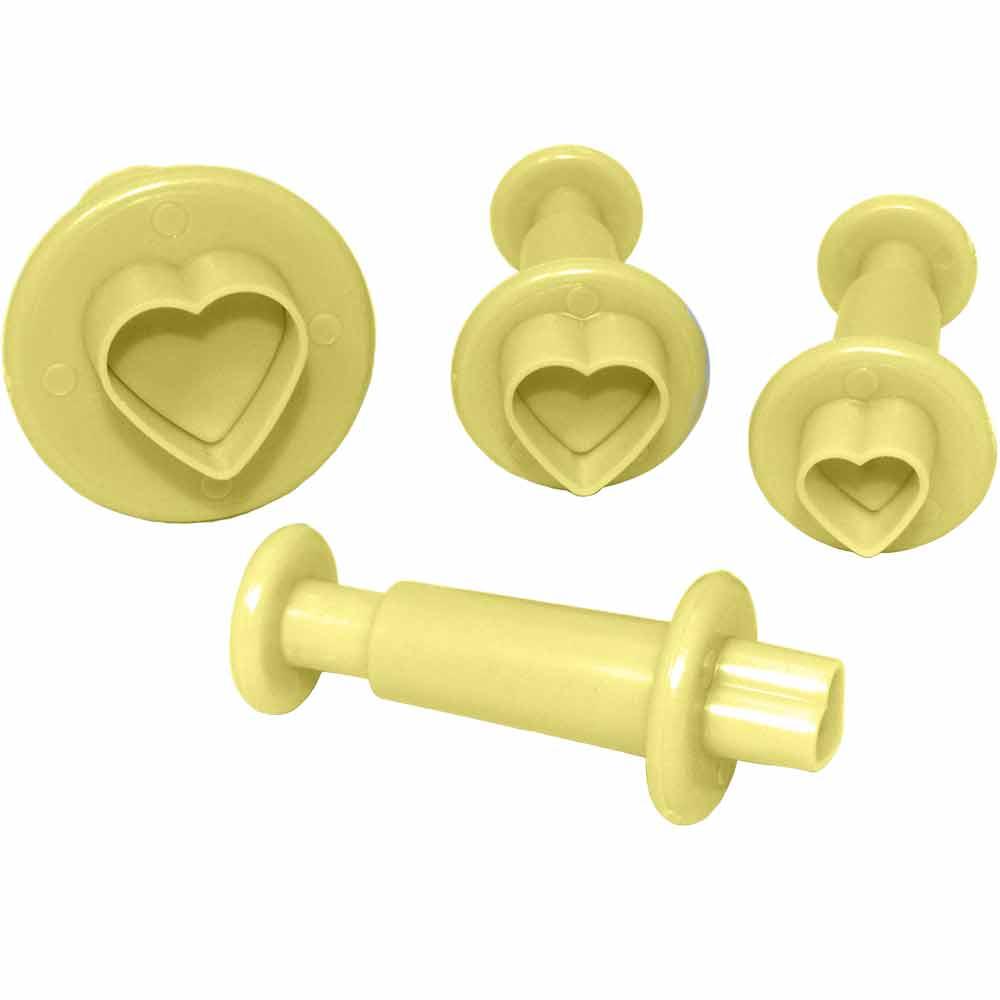 Ejetor coração para biscuit  c/4 peças Bluestar