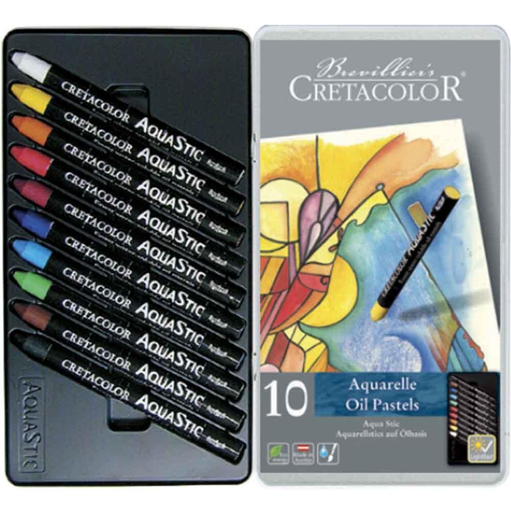 Estojo 10 cores Bastão Aquarela 450 10 - Cretacolor