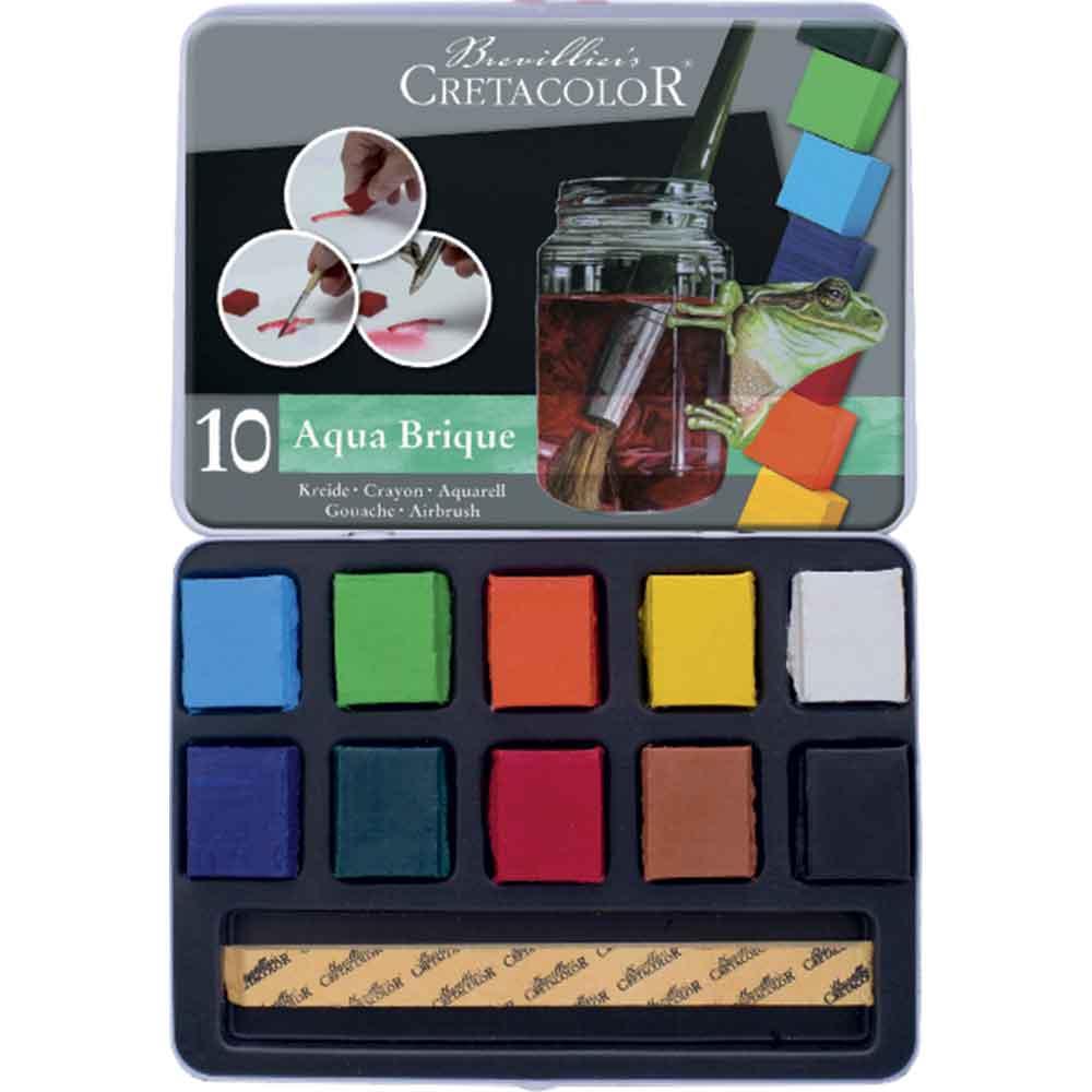 Estojo 10 cores Bloco Aquarela 415 10 - Cretacolor