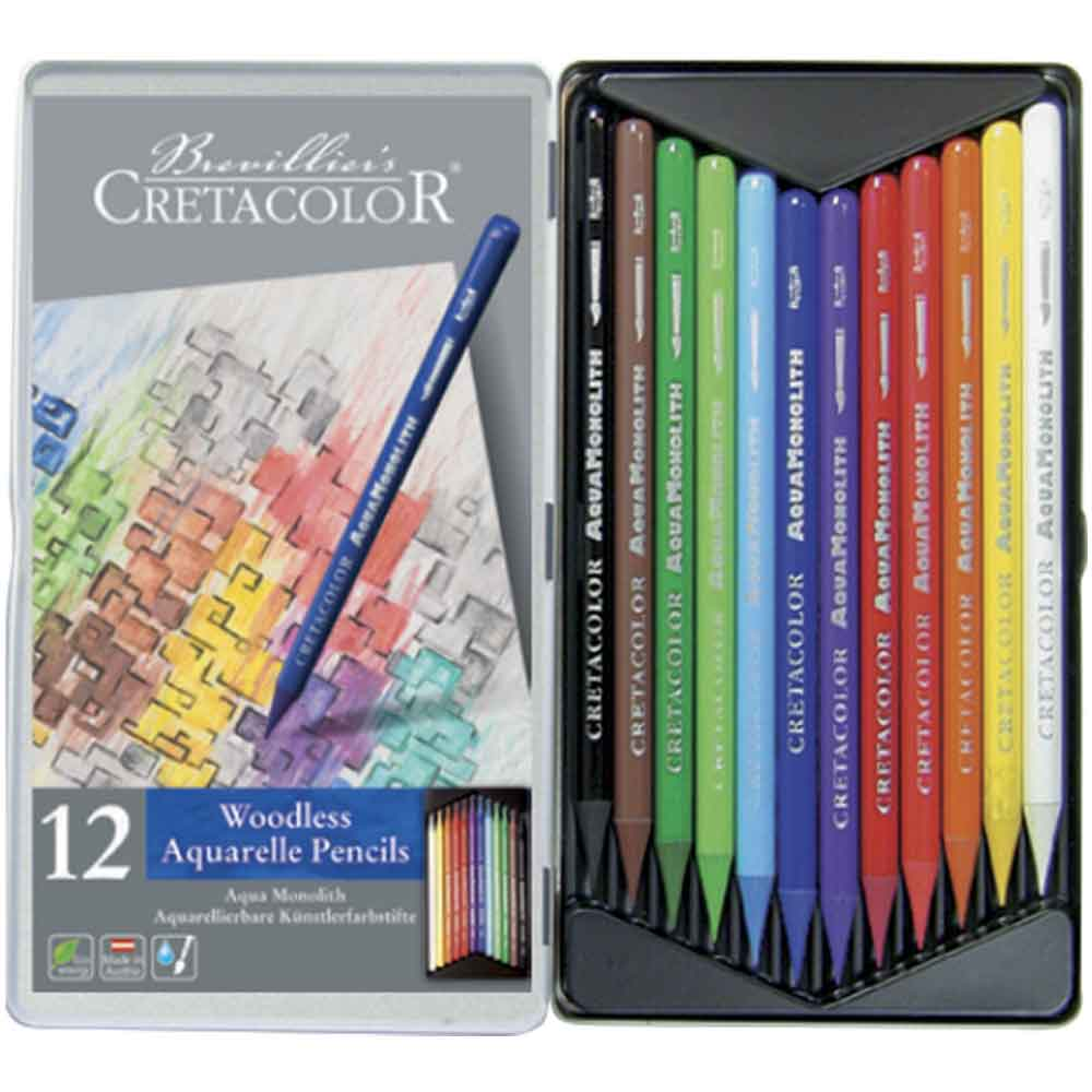 Estojo 12 cores Lápis Integral Aquarela 250 12 - Cretacolor