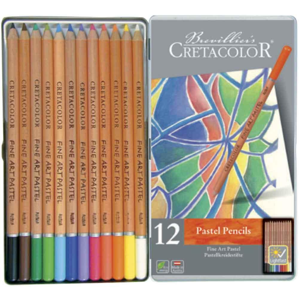 Estojo 12 cores lápis pastel 470 12 - Cretacolor