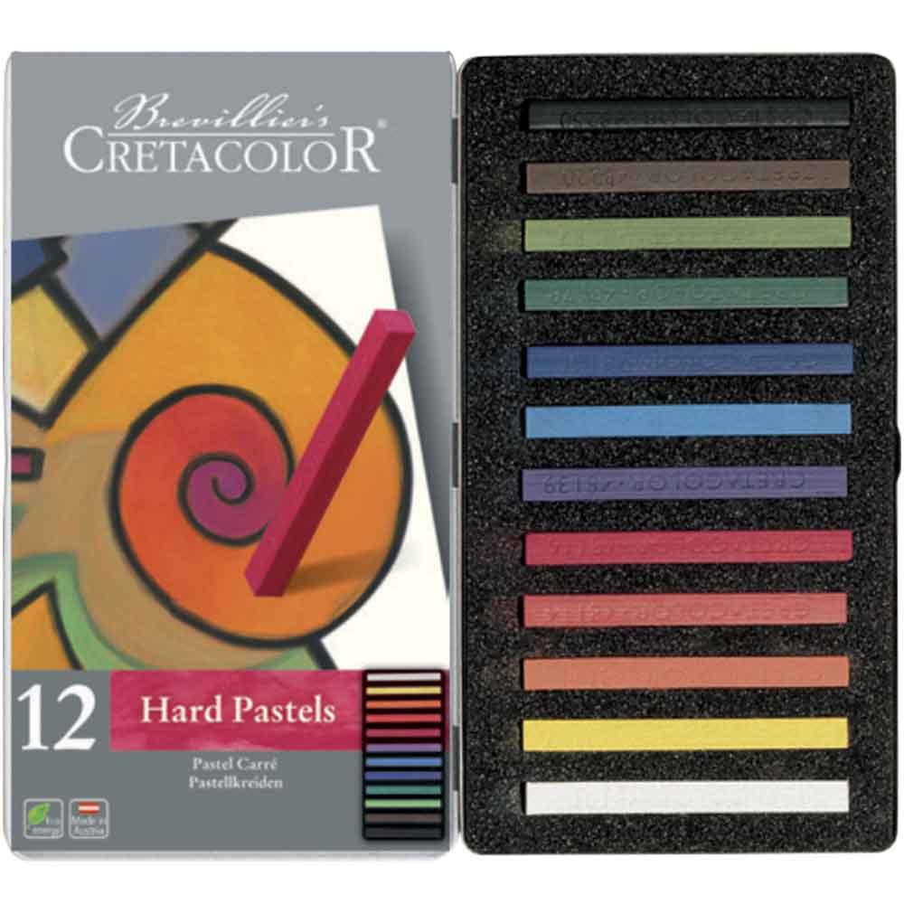 Estojo 12 cores pastel carre 480 12 - Cretacolor