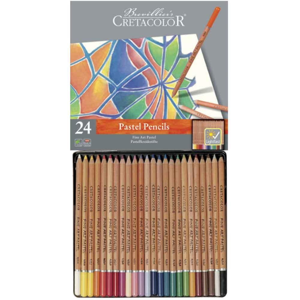 Estojo 24 cores lápis pastel 470 24 - Cretacolor