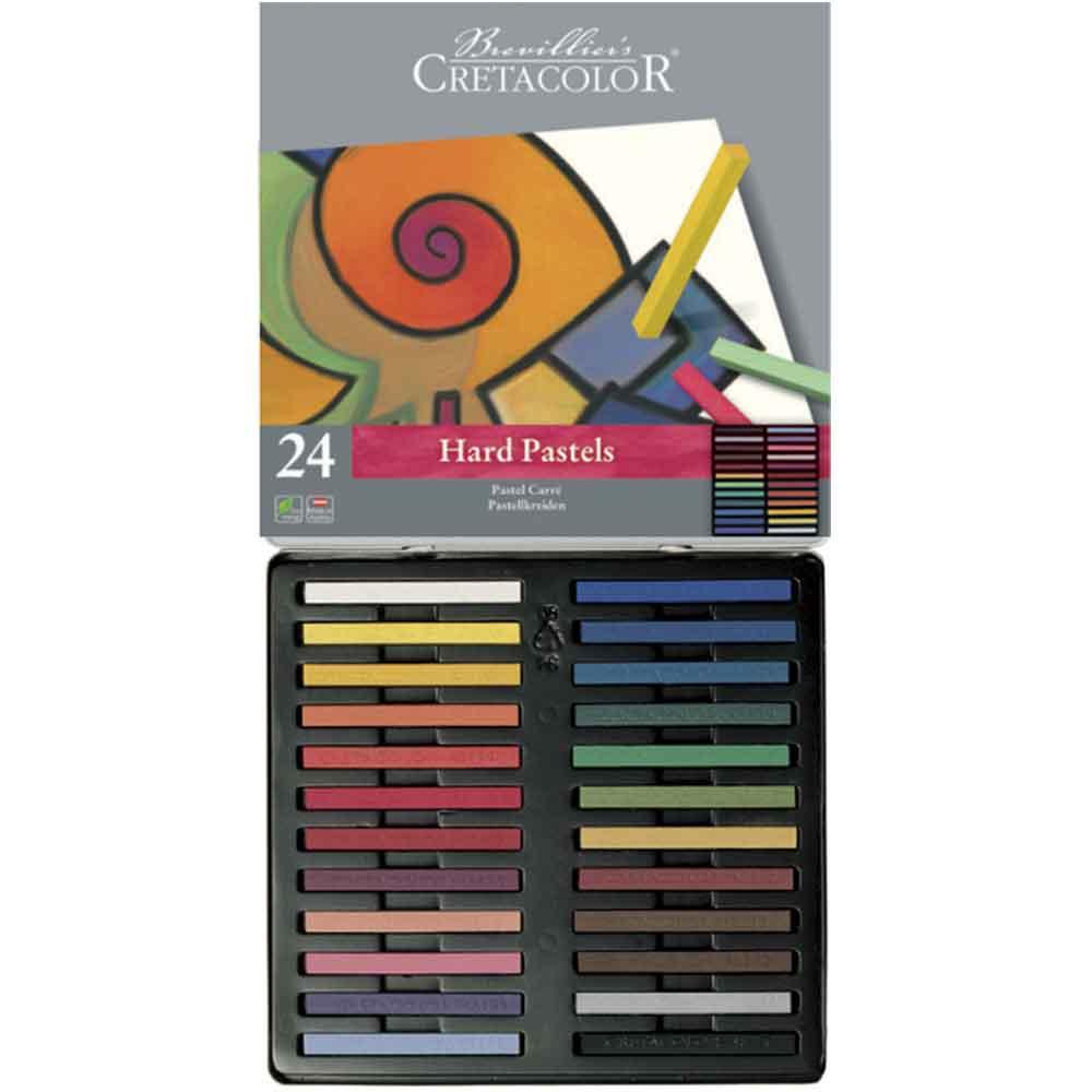 Estojo 24 cores pastel carre 480 24 - Cretacolor