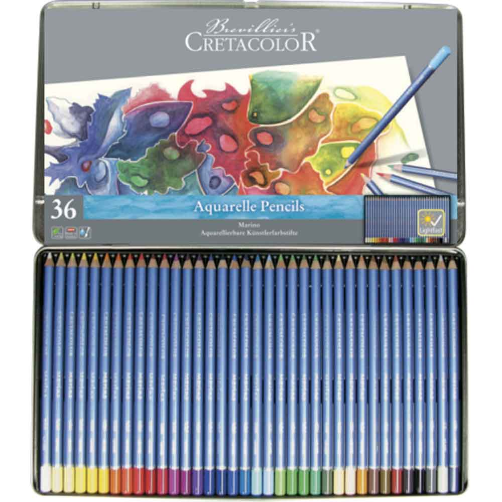 Estojo 36 cores Lápis Aquarela Marino 240 36 - Cretacolor