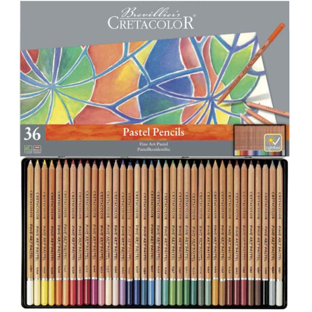 Estojo 36 cores lápis pastel 470 36 - Cretacolor
