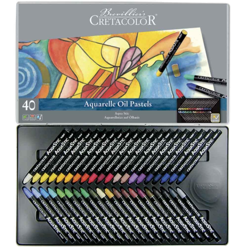 Estojo 40 cores Bastão Aquarela 450 40 - Cretacolor