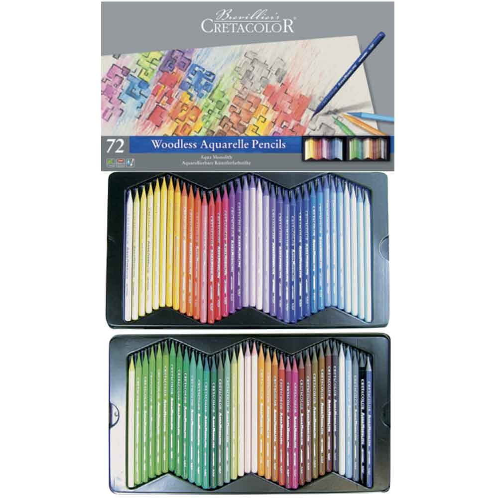 Estojo 72 cores Lápis Integral Aquarela 250 72 - Cretacolor