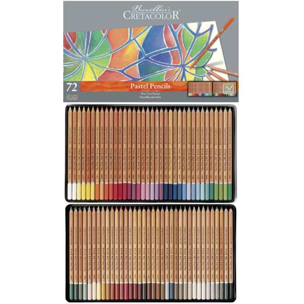 Estojo 72 cores lápis pastel 470 72 - Cretacolor