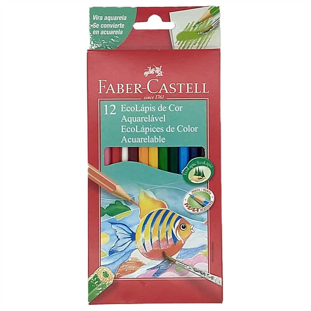 Estojo Faber Castell Lapis Aquarela 12 cores