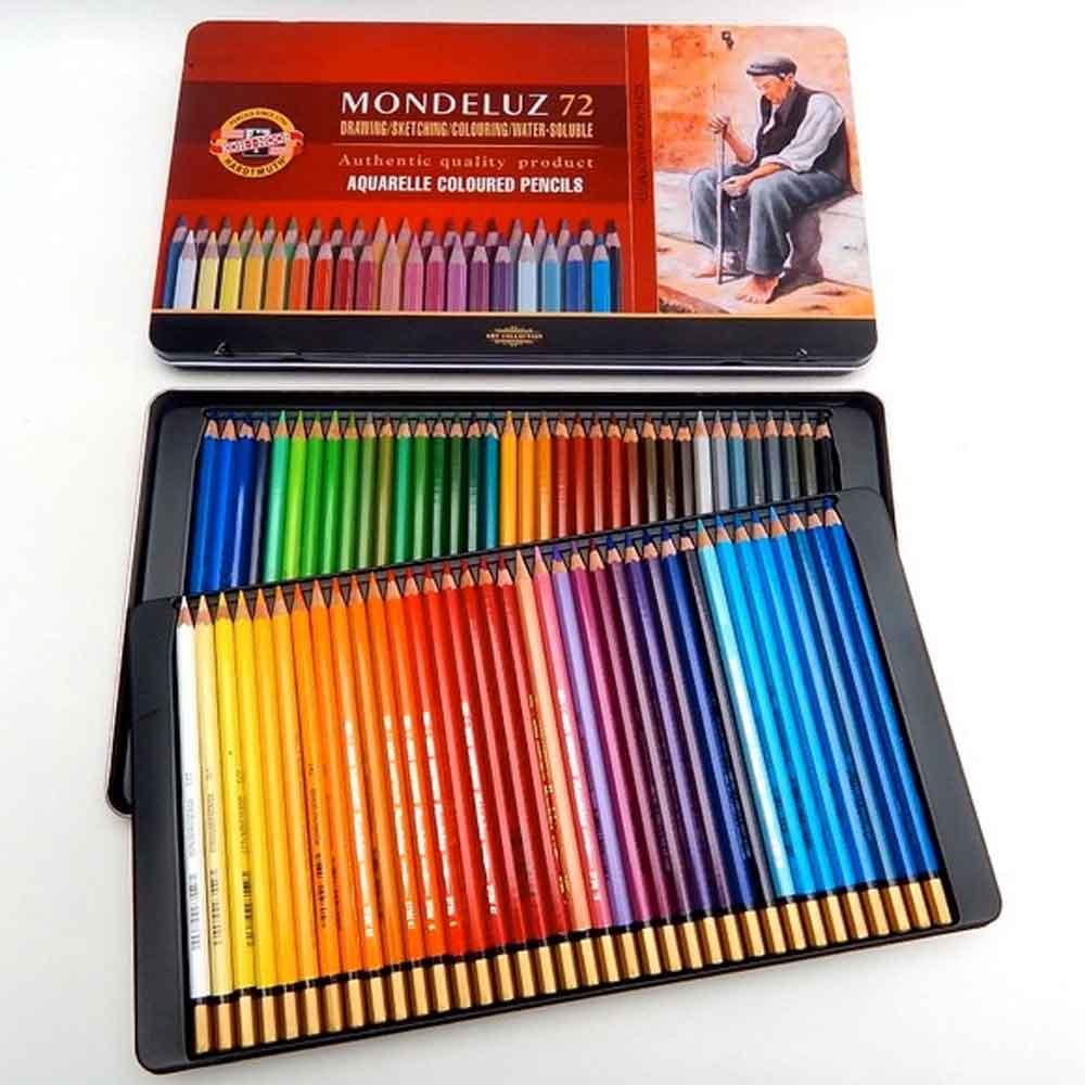Estojo Metálico 72 cores Aquarelável Mod.3727 Mondeluz